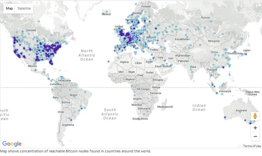 Global Bitcoin Nodes Graph 2015