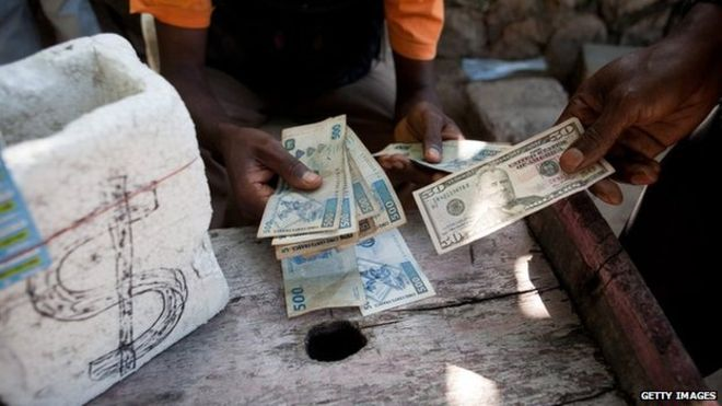 Children Holding Dollars African