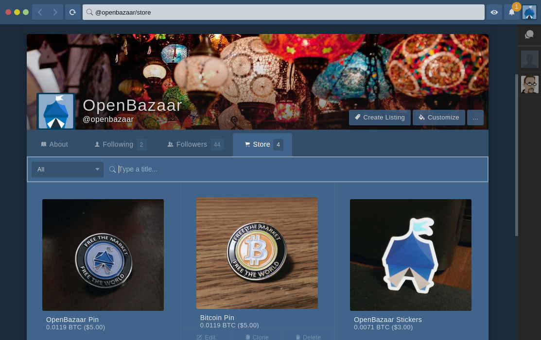 OpenBazaar Marketplace