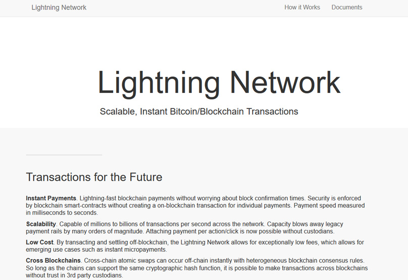 Lighning Network website