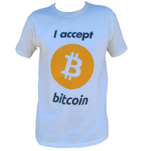 I Accept Bitcoin Tee White