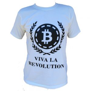 Viva La Revolution Bitcoin T-Shirt White